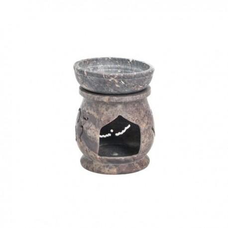 Quemador Aceite Esencial en Piedra de Jabón Mod.12