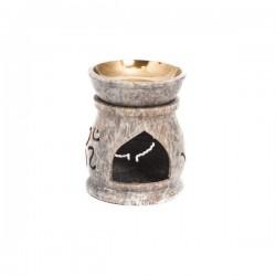 Quemador Aceite Esencial en Piedra de Jabón Mod.13