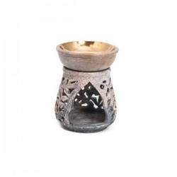 Quemador Aceite Esencial en Piedra de Jabón Mod.14