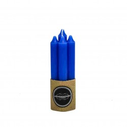Pack 4 unds Vela Bujia Azul 17 x 2 cm