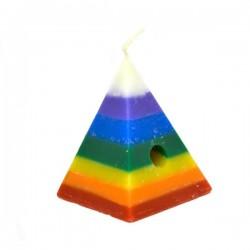 Vela artesanal Piramide de Deseos 7 colores 10 x 13 cm
