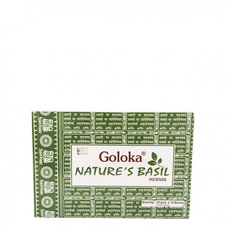 Incienso Goloka Nature´s Basil 15 grs- caja de 12 unds