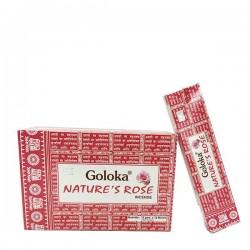 Incienso Goloka Nature´s Rose 15 grs- caja de 12 unds.