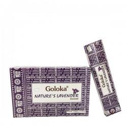 Incienso Goloka Nature´s Lavender 15 grs- caja de 12 unds.