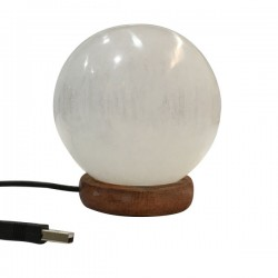 Lampara de Selenita usb esfera