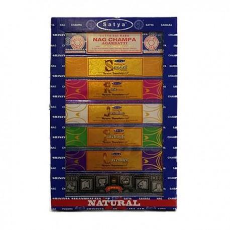 Pack 7 inciensos Satya Natural