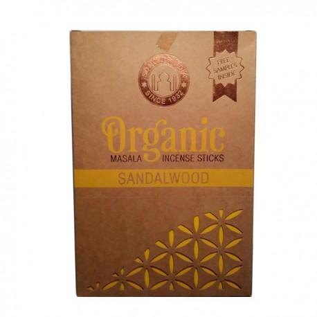 INCIENSO ORGANICO SANDALWOOD 12 paquetes de 15 gramos