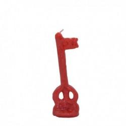 Vela roja forma de llave