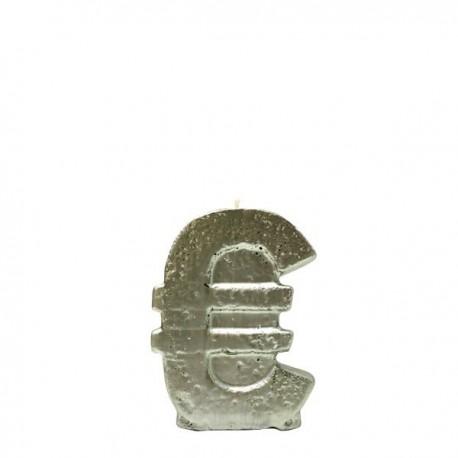 Vela euro color oro