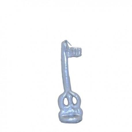 Vela forma de llave color plata