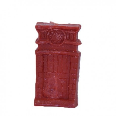 Vela roja con forma puerta abre caminos