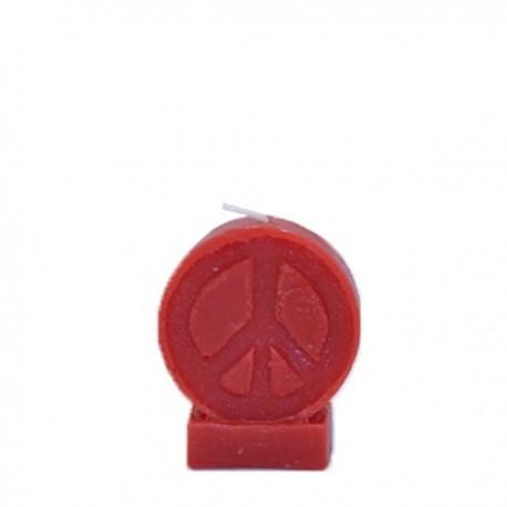Vela roja símbolo de la Paz
