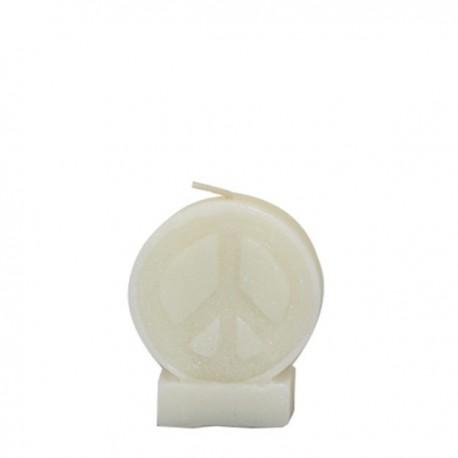 Vela blanca símbolo de la Paz