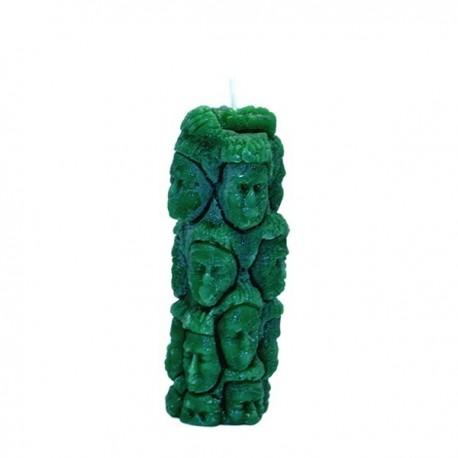 Vela verde con forma 1000 caras