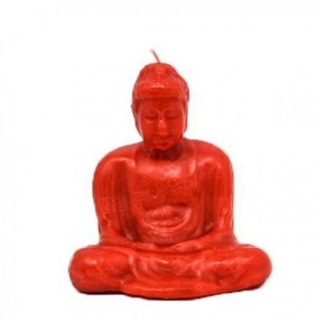 Vela roja con forma de Buda