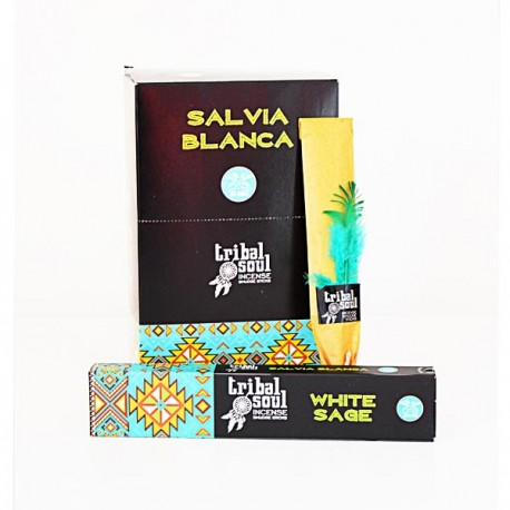 Incienso Salvia Blanca Tribal Soul Hari Darshan 16 grs