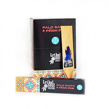 Incienso Palo Santo con Piñon Pino Tribal Soul Hari Darshan 16 grs