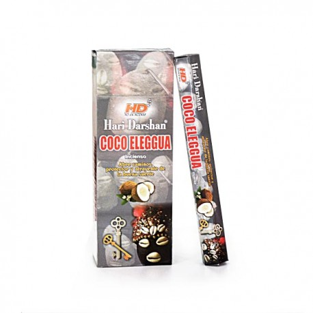 Incienso Coco Elegua Hari Darshan - Pack 6 unds