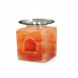 Quemador Aceite Esencial de Sal del Himalaya CUBO