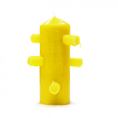 Velón 7 mechas Amarillo 6 x 15 cm